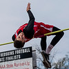 JAY YOUNG | THE GOSHEN NEWS<br /> Plymouth's Nate Patterson competes in the high jump during the 75th running of the Goshen Relays Saturday at Goshen High School.