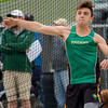 JAY YOUNG | THE GOSHEN NEWS<br /> Northridge's James Rupright makes a throw while competing in the discus event during the Norther Lakes Conference Championship track meet Tuesday evening in Warsaw.