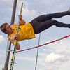 SAM HOUSEHOLDER | THE GOSHEN NEWS<br /> Northridge Dean Ridenour clears the pole vault Friday during the Kelly Relays at Concord High School.