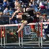 HALEY WARD | THE GOSHEN NEWS<br /> NorthWood senior Derek Parker jumps over a hurdle during the Boys 110 Meter Hurdles on Thursday during the Goshen Sectionals.