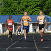 HALEY WARD | THE GOSHEN NEWS<br /> Runners compete in the prelims for the Boys 200 Meter Dash during the track and field sectional Thursday at Goshen High School.