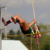 SAM HOUSEHOLDER | THE GOSHEN NEWS<br /> Northridge sophomore Hannah Wogoman clears the pole vault Tuesday at the sectional track meet at Warsaw High School.