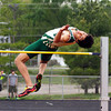SAM HOUSEHOLDER | THE GOSHEN NEWS<br /> Wawasee junior J.J. Gilmer clears the high jump Tuesday during the NLC Championship meet at Warsaw.