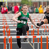SAM HOUSEHOLDER | THE GOSHEN NEWS<br /> Concord senior Jessica O'Connell runs the 100 meter hurdles Tuesday at the NLC Championship at Warsaw High School.