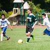 Alex Lee and Luke Karis trying to intercept the ball.