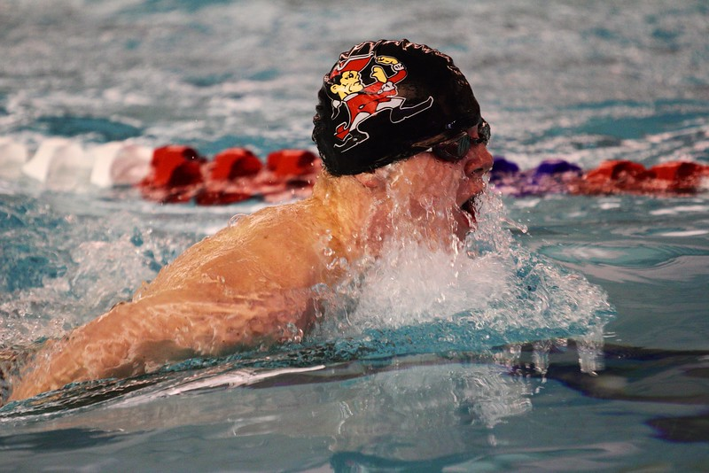 Spencer Kendrick breaststroke, WIAA Sectional meet