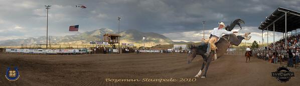 Bozeman Stampede 2010 Pano Cowboy 2