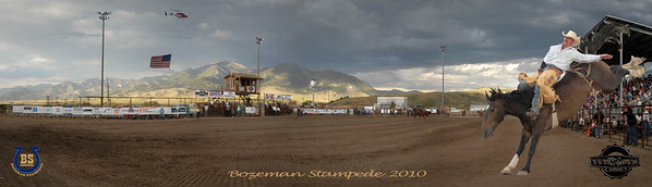 Bozeman Stampede 2010 Pano Cowboy far right