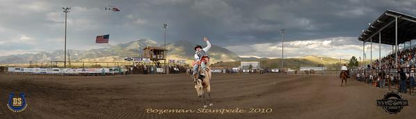 Bozeman Stampede 2010 Pano cowboy center