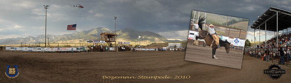 Bozeman Stampede 2010 Pano pic in pic