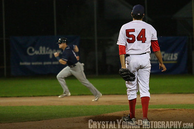 Barrie Baycats at Brantford Red Sox IBL Playoffs, Semifinals Game 4 August 20, 2017