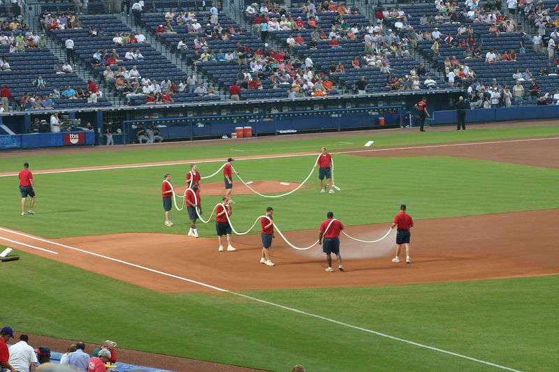 Ahhh. Prime seats for the braves game!
