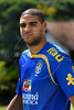 Brazilian national soccer team player Adriano, from Italy's Inter, during a practice session in Teresopolis, Rio de Janeiro, Brazil, March 27, 2009. Brazil will face Ecuador in a World Cup South Africa 2010 qualifying soccer match on March 29 in Quito. (Austral Foto/Renzo Gostoli)