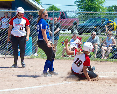 The Division 4 District 110 playoffs at Breckenridge resulted in titles for the Vestaburg softball team and Beal City baseball team Saturday, May 31, 2014.
