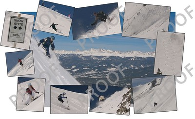 Collage of opening day photos from Breckenridge's new Snow White area, as featured in the Summit Daily News.
