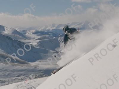 Dropping off Peak 8, Breckenridge. Model: Todd