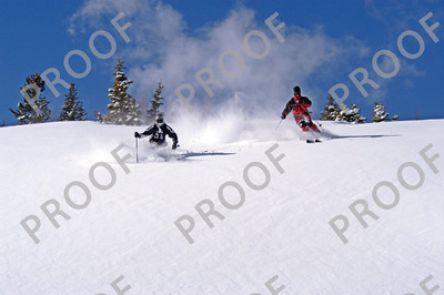 Rhonda and Todd find some fresh, below the front bowls, Peak 8.
