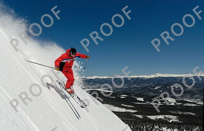 Art's Bowl, Peak 7, Breckenridge. I think this is what they mean by Cobalt Blue skies!