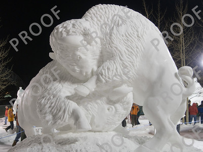 The annual snow sculpture contest in Breck produces some amazing work. Go buffs!