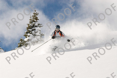 Todd Saemisch getting some secret Breckenridge powder, December 10th, 2007