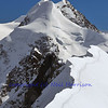 The challenging and beautiful twin summits of Liskamm in the swiss alps above Zermatt