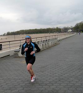"Ali rocking it on the ""boardwalk"", second run leg"