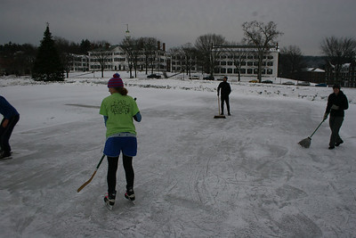 Broomball on the Green