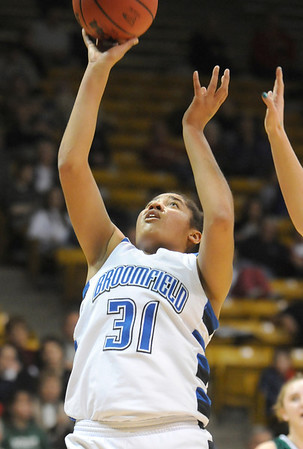 Broomfield's Tyana Medema shoots against Conifer during the Final Four game at the Coors Event Center in Boulder on Wednesday <br /> <br /> March 10, 2010<br /> Staff photo/David R. Jennings