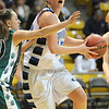 Broomfield's Renae Waters drives the ball to the basket past Conifer's Amanda Taney during the Final Four game at the Coors Event Center in Boulder on Wednesday <br /> <br /> March 10, 2010<br /> Staff photo/David R. Jennings