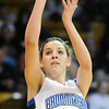 Broomfield's Katie Nehf shoots to the basket against Conifer during the Final Four game at the Coors Event Center in Boulder on Wednesday. <br /> Broomfield defeated Conifer  59-32.<br /> March 10, 2010<br /> Staff photo/David R. Jennings