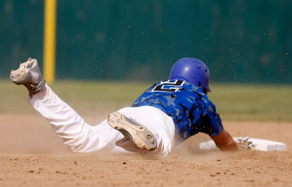 """Broomfield Eagle's Ryan McCulley, #2, slides into second base during the championship game on Saturday, May, 26, 2012, Denver. <br /> Photo by Derek Broussard<br /> For more photos visit  <a href=""""http://www.dailycamera.com"""">http://www.dailycamera.com</a>"""