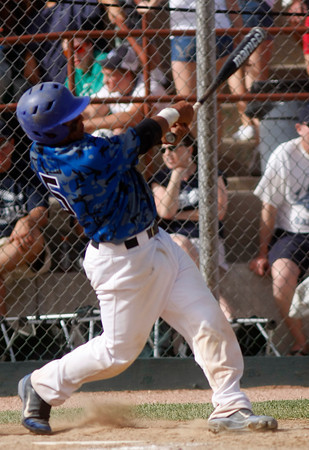 "Broomfield Eagle's Ben Martinez, #5, slides safe into second base before Air Acadmey's Curtis, #5, hits a homerun during the championship game on Saturday, May, 26, 2012, Denver. <br /> Photo by Derek Broussard<br /> For more photos visit  <a href=""http://www.dailycamera.com"">http://www.dailycamera.com</a>"