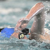 Broomfield's Abi Young swimming in the 500 yard freestyle consulation during the 4A state championship swimmeet at Mountain View High School in Loveland on Saturday <br /> February 12, 2011<br /> staff photo/David R. Jennings