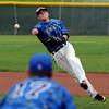 "Hayden Underberg of Broomfield makes a tough throw to first to get the out against Thompson Valley.<br /> For a photo gallery of Broomfield baseball, go to  <a href=""http://www.dailycamera.com"">http://www.dailycamera.com</a>.<br /> Cliff Grassmick/ May 14, 2011"