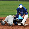 """Emilio Tujillo, left, of Widefield, and Nick Hammett of Broomfield battle around second base on Saturday.<br /> For a photo gallery of Broomfield baseball, go to  <a href=""""http://www.dailycamera.com"""">http://www.dailycamera.com</a>.<br /> Cliff Grassmick/ May 14, 2011"""
