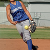 "Chandler Moore of Broomfield pitches against Longmont.<br /> Longmont played its first game on the new softball field.<br /> For more photos of the game, go to  <a href=""http://www.dailycamera.com"">http://www.dailycamera.com</a>.<br /> Cliff Grassmick / August 26, 2010"