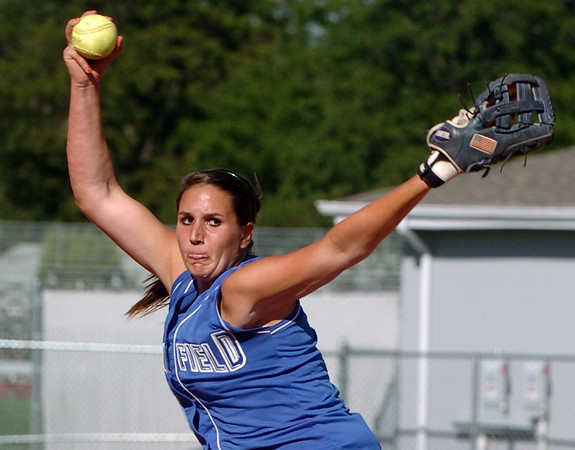 """Chandler Moore of Broomfield pitches against Longmont.<br /> Longmont played its first game on the new softball field.<br /> For more photos of the game, go to  <a href=""""http://www.dailycamera.com"""">http://www.dailycamera.com</a>.<br /> Cliff Grassmick / August 26, 2010"""