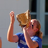 "McKenzie Murray of Longmont catches a pop up against Broomfield.<br /> Longmont played its first game on the new softball field.<br /> For more photos of the game, go to  <a href=""http://www.dailycamera.com"">http://www.dailycamera.com</a>.<br /> Cliff Grassmick / August 26, 2010"