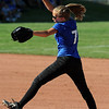 "Madeline Peterson of Longmont pitches against Broomfield on Thursday.<br /> Longmont played its first game on the new softball field.<br /> For more photos of the game, go to  <a href=""http://www.dailycamera.com"">http://www.dailycamera.com</a>.<br /> Cliff Grassmick / August 26, 2010"