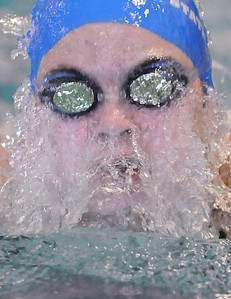 Katalena Laufasa-Duncan, Broomfield, swims the breaststroke in the 200 yard IM during Saturday's state 4A swim championships at Mtn. View Aquatic Center.  February 13, 2010 Staff photo/David R. Jennings