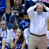 "Broomfield High School head coach Mike Croell holds his hand over his head after a bad call during a game against Denver East on Saturday, Dec. 15, at Fairview High School in Boulder. For more photos of the game go to  <a href=""http://www.dailycamera.com"">http://www.dailycamera.com</a><br /> Jeremy Papasso/ Camera"