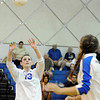 Broomfield's Kailee Van Tine serves the ball up for a kill during a volleyball match against Legacy High School on Thursday, Aug. 30, at Broomfield High School. Broomfield won the match.<br /> Jeremy Papasso/ Camera