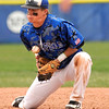 "Broomfield High School' Andy McClaskey fumbles a ground ball on Saturday, April 30, during a baseball game against Longmont High School in Longmont. Broomfield won the game 9-6. For more photos go to  <a href=""http://www.dailycamera.com"">http://www.dailycamera.com</a><br /> Jeremy Papasso/ Camera"