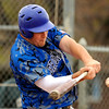 "Broomfield High School's Nick Leonard gets a hit on Saturday, April 30, during a baseball game against Longmont High School in Longmont. Broomfield won the game 9-6. For more photos go to  <a href=""http://www.dailycamera.com"">http://www.dailycamera.com</a><br /> Jeremy Papasso/ Camera"