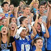 Broomfield fans cheer on their team after making a touchdown against Monarch during Friday's game at Centaurus High.  <br /> <br /> September 3, 2010<br /> staff photo/David R. Jennings