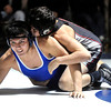 "Broomfield High School's Josh Medina tries to avoid a pin while wrestling Pomona High Schools Dante Baca in the 170-pound class during a wrestling match at Broomfield High School on Wednesday, Jan. 25. For more photos of the matches go to  <a href=""http://www.dailycamera.com"">http://www.dailycamera.com</a><br />  Jeremy Papasso/ Camera"