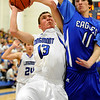 Longmont High School senior Cade Kloster takes a shot during a basketball game against Broomfield High School on Friday, Jan. 14, in Longmont. Broomfield defeated Longmont 68-62.<br /> Photo by Jeremy Papasso
