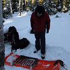 After three hours we arrive to the Brule Lake Forest Service cabin.  We retrieve the fire grate and....