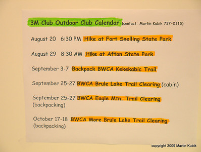 For schedule of the BWA Committee trips, see  http://www.meetup.com/Friends-of-BWCA-Trails/