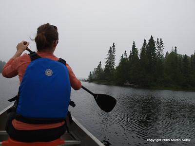 Quiet paddling.